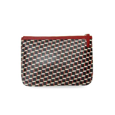 canvas cube clutch red